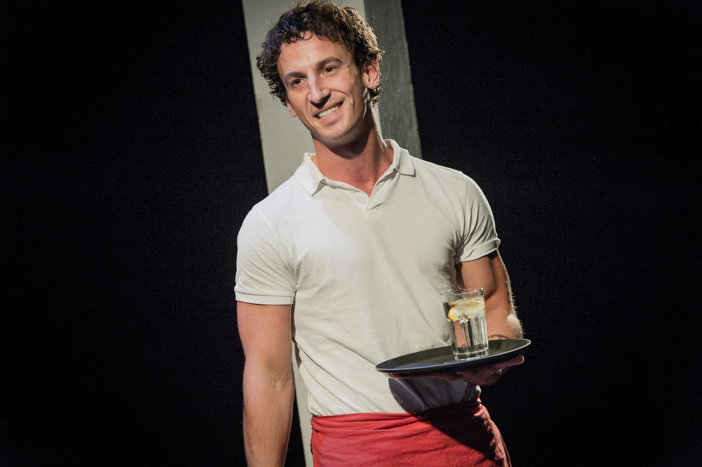 Alain Terzoli in Farragut North, Southwark Playhouse Off West End, composer - Jude Obermüller (photo by Robert Workman)