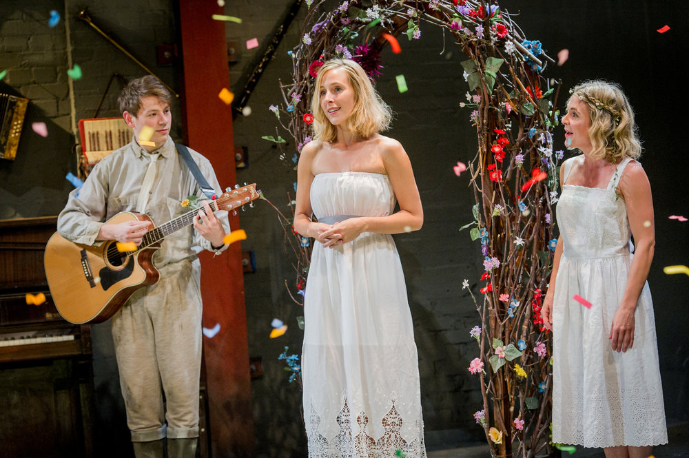 Sam Townsend, Sally Scott & Kaisa Hammarlund in As You Like It, composed by Jude Obermüller (photo by Robert Workman)