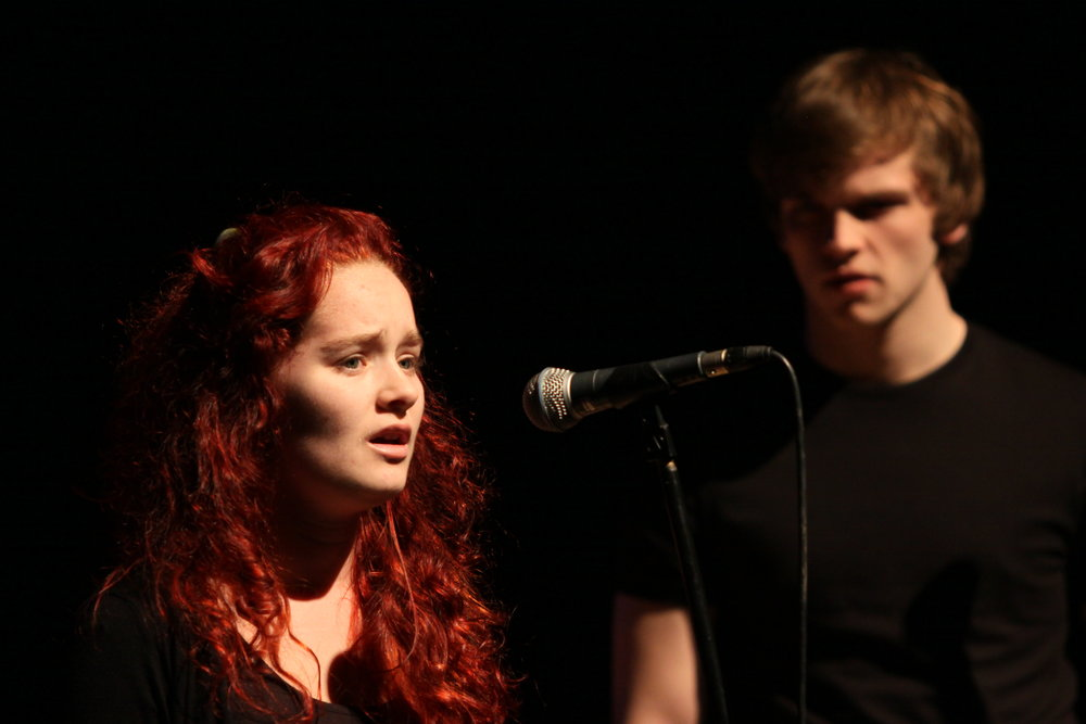 Georgie Fuller & Michael Carolan in Forbidden Fruit, Brighton Festival, Brighton Dome, composed by Jude Obermüller (photo by Sarah Sutherland-Rowe)