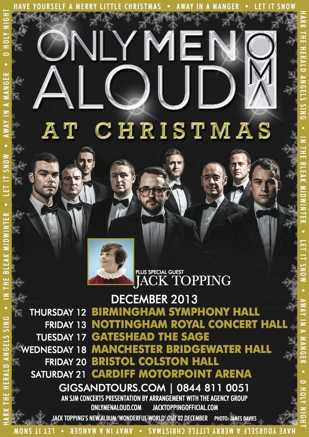 Only Men Aloud - UK Tour, Christmas 2013 artwork, featuring orchestrations by Jude Obermüller.jpg