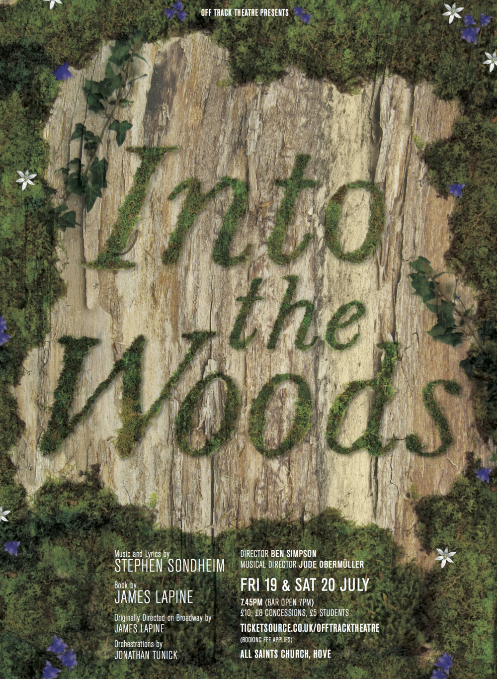 Into the Woods artwork, Off Track Theatre, Brighton 2014, conducted by Jude Obermüller.png