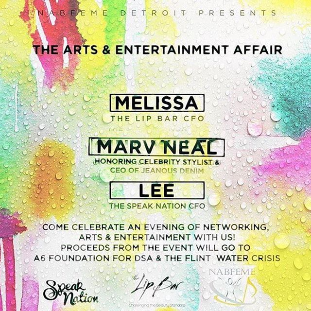 Art ➕ Music ➕ Fashion : #Detroit please be sure to check out this great event Saturday June 24th 6pm - 9 pm featuring: @thespeaknation @thelipbar @marvneal @thisisjoyaofficial @melissarbutler while we celebrate art and entertainment. A portion of the proceeds from the event will go to our A6 Foundation at the Detroit School of Arts. Click the link in the bio to purchase tickets.