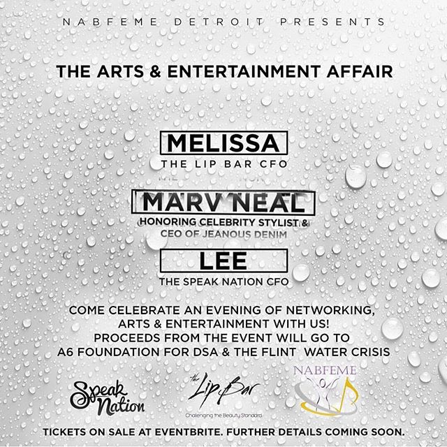 Art ➕ Music ➕ Fashion : TONIGHT #DETROIT!  Please be sure to check out this great event THIS Saturday June 24th 6pm - 9 pm featuring: @thespeaknation @thelipbar @marvneal @thisisjoyaofficial @melissarbutler  @nabfemedetroit while we celebrate art and entertainment. A portion of the proceeds from the event will go to our A6 Foundation at the Detroit School of Arts. Click the link in the bio to purchase tickets.