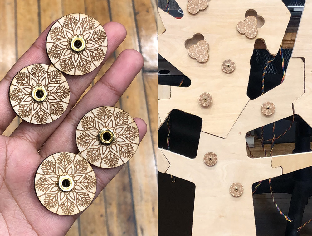 Laser etched parts and the structure