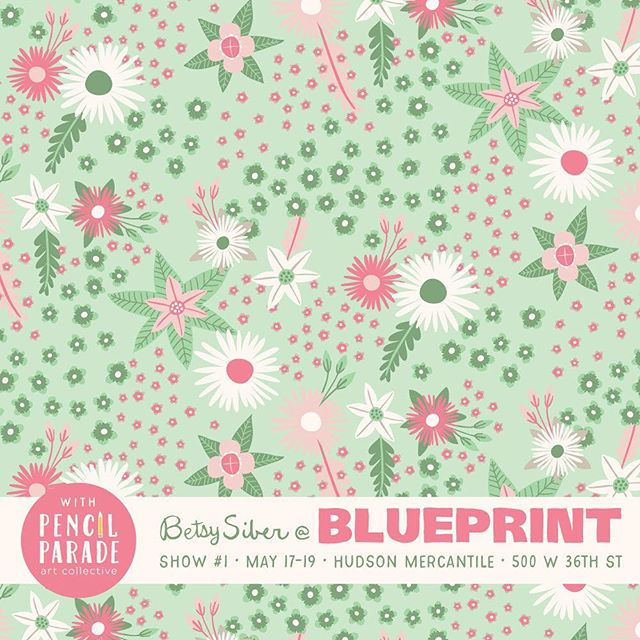 ...and florals!  Today is the FINAL DAY of Blue Print, Show 1, Booth #44 with @pencilparade Thursday-Saturday at Hudson Mercantile, 500 West 36th Street, New York. Need a soft floral for your SP19 apparel? I've got you covered! ⠀ ⠀ #artlicensing #surfacepattern #patternobserver #patterns #patterndesign #comeseeme #blueprintshows #blueprintshows1 #floral #childrenswear