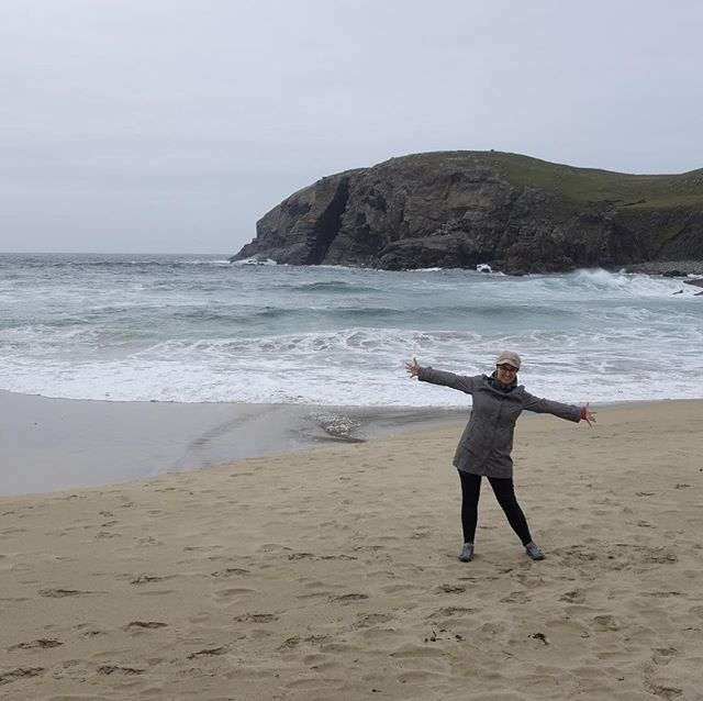 First day at our island getaway at the Isle of Lewis. This lovely beach is about 30 seconds from our house!