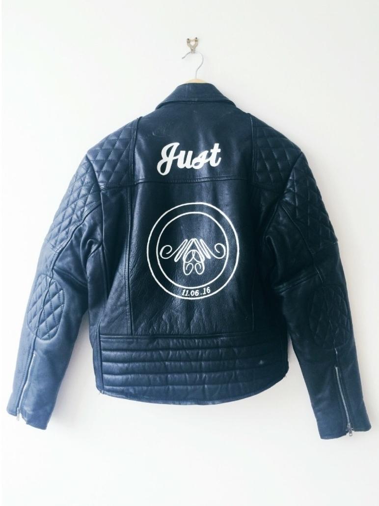 Custom Leather Jacket - Daisy Emerson - The Wedding Squad