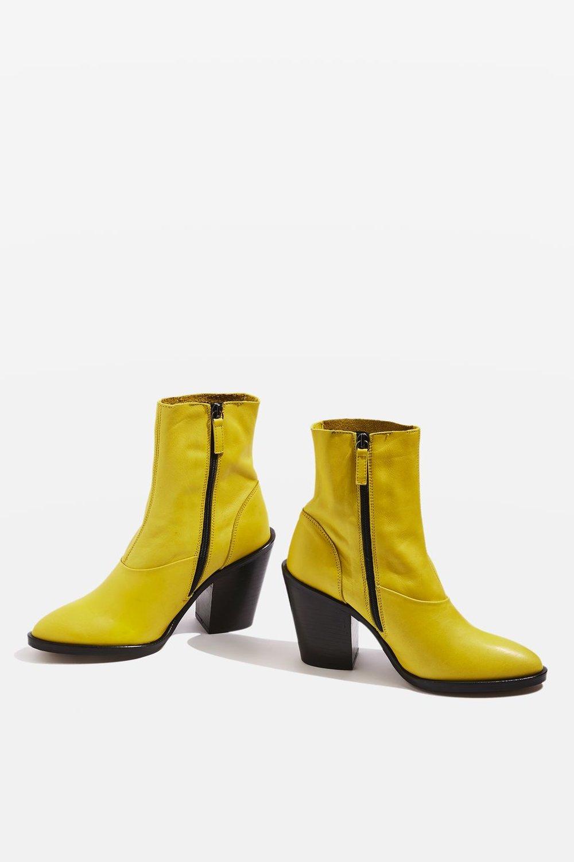 Topshop Yellow Sock Boots