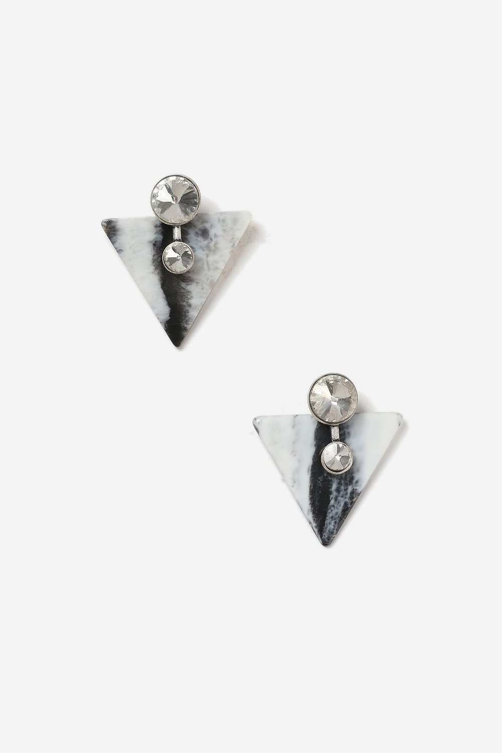 Topshop Marble Triangle Stud