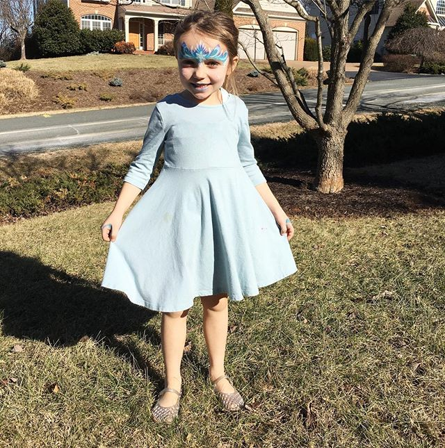 Elsa is enjoying a not so frozen winter day topping 60 degrees! Thanks for the face painting @ting #ting