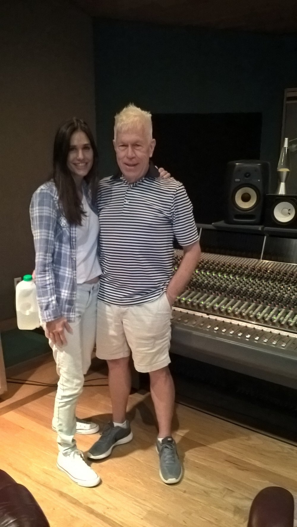 Susanna recording with Larry Rogers