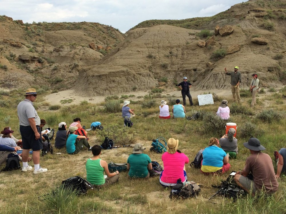 Teaching teachers some basic geology skills with fellow DIG instructors Dr. Tom Tobin and Dr. Courtney Sprain