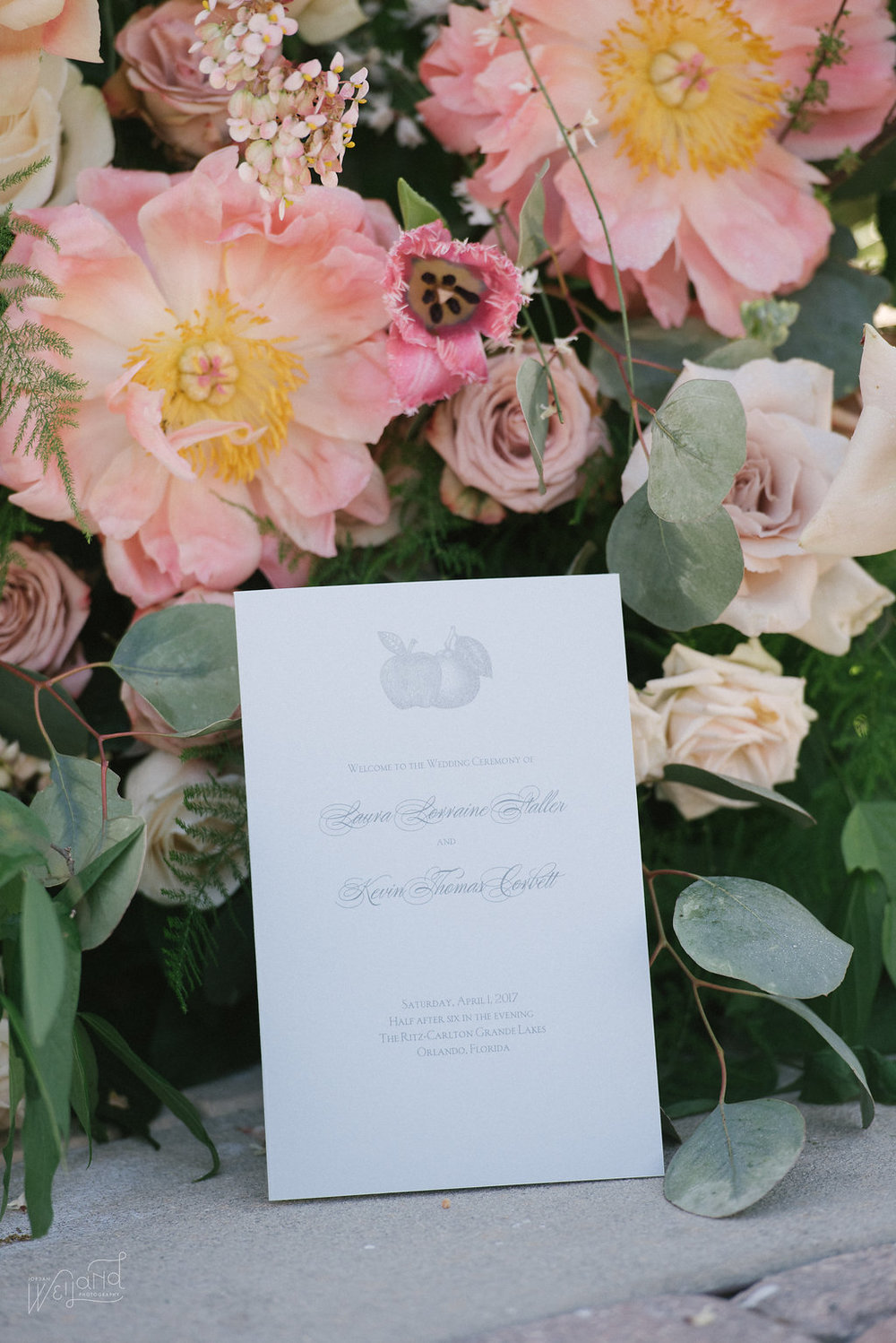Peach Peony Bouquet || Lisa Stoner Events || Velvet & Twine || Jordan Weiland Photography