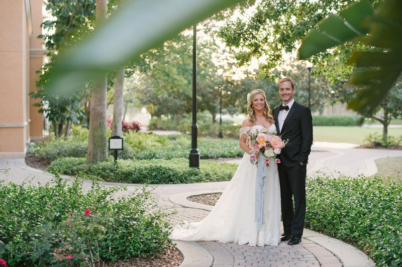 Ritz Carlton Orlando Wedding Portrait || Lisa Stoner Events || Jordan Weiland Photography
