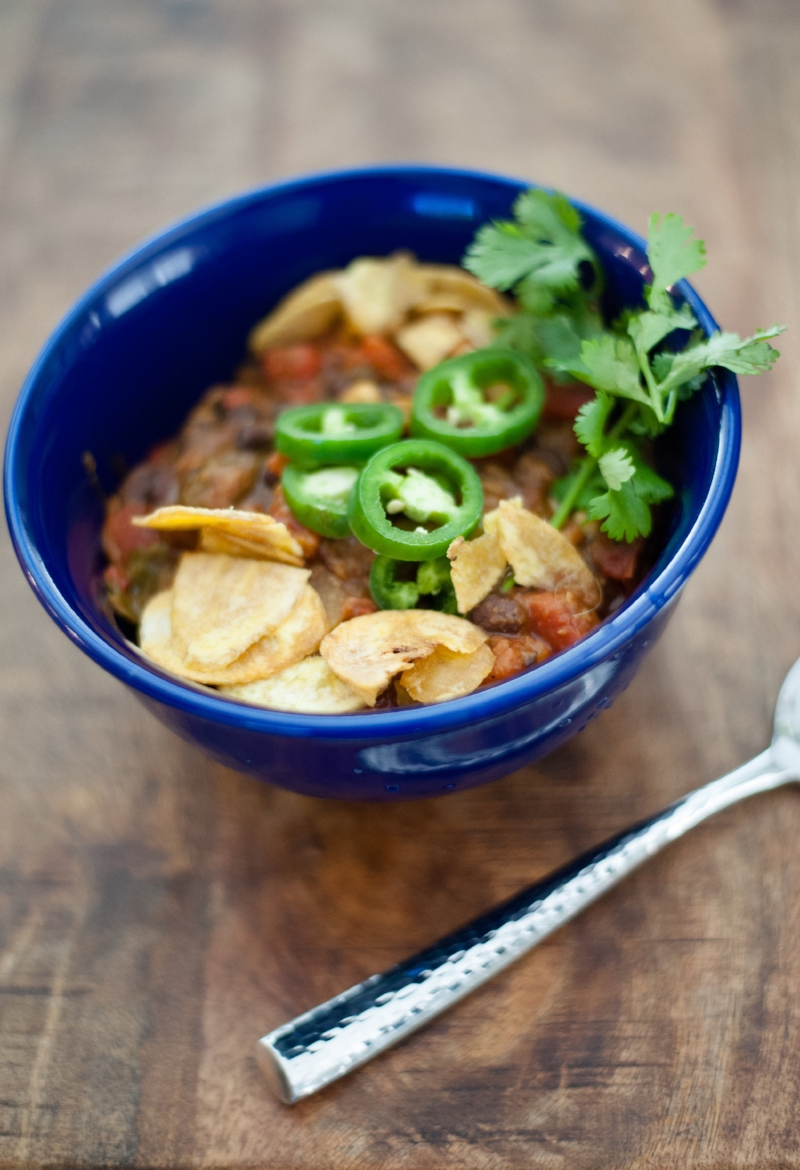 Vegan Lentil Chili | Lisa Stoner