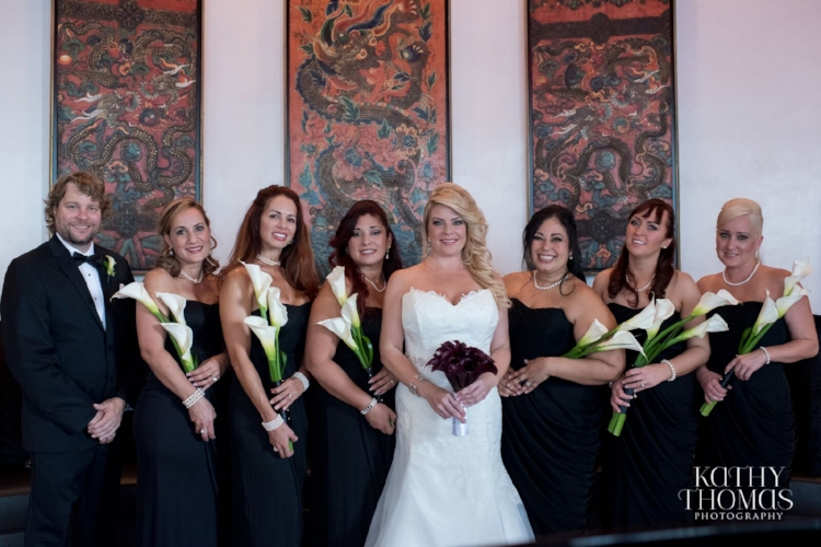 Lisa Stoner Events - Luxury Weddings - Orlando Weddings - Grand Bohemian Hotel - black tie wedding - same sex wedding - Marriage Equality  - Wedding Planner - plum and grey wedding - wedding party - white calla lily bridesmaids bouquets.jpg