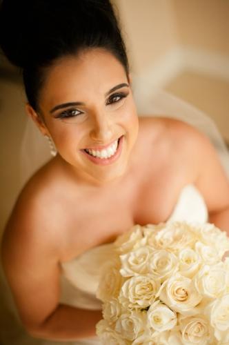 lisa stoner events- orlando weddings-strapless wedding gown-white rose bridal bouquet-bride-luxury weddings-bridal portrait.jpg