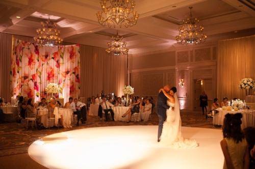 lisa stoner events- central florida luxury weddings- waldorf astoria wedding- white wedding- round white dancefloor- first dance.jpg
