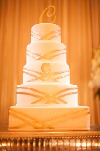 lisa stoner events- orlando wedding planner- luxury weddings- central florida weddings-waldorf astoria orlando- white wedding cake- monogrammed wedding cake.jpg