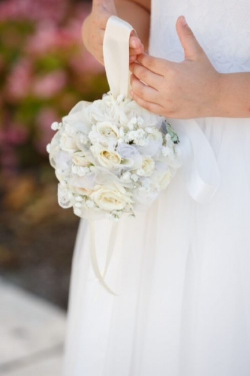 lisa stoner events- orlando wedding planner- central florida wedding planner- flower girl - white wedding flowers -white kissing ball.jpg