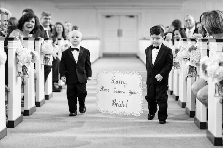 lisa stoner event - lisa stoner weddings- First United Methodist Church of Orlando- orlando black tie wedding- orlando luxury wedding planner - wedding ceremony - ring bearers.jpg