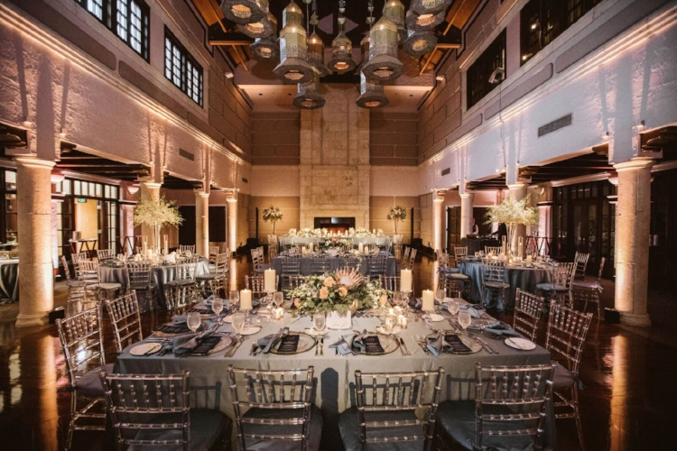 lisa stoner event planning- windermere luxury wedding planner- central florida wedding reception - wedding lighting- clear chiavari chiars - elegant wedding reception.jpg