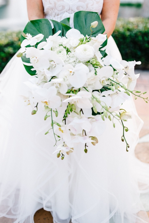 lisa stoner event planning- hammock beach wedding - bridal bouquet- white bridal bouquet- cascading white bridal bouquet- white orchid wedding bouquet.jpg