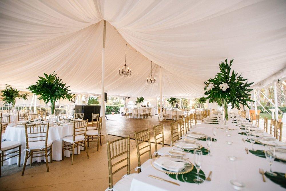 lisa stoner event planning - luxury tented wedding reception- florida luxury wedding planner - florida tented wedding reception-  gold chiavari chairs.jpg