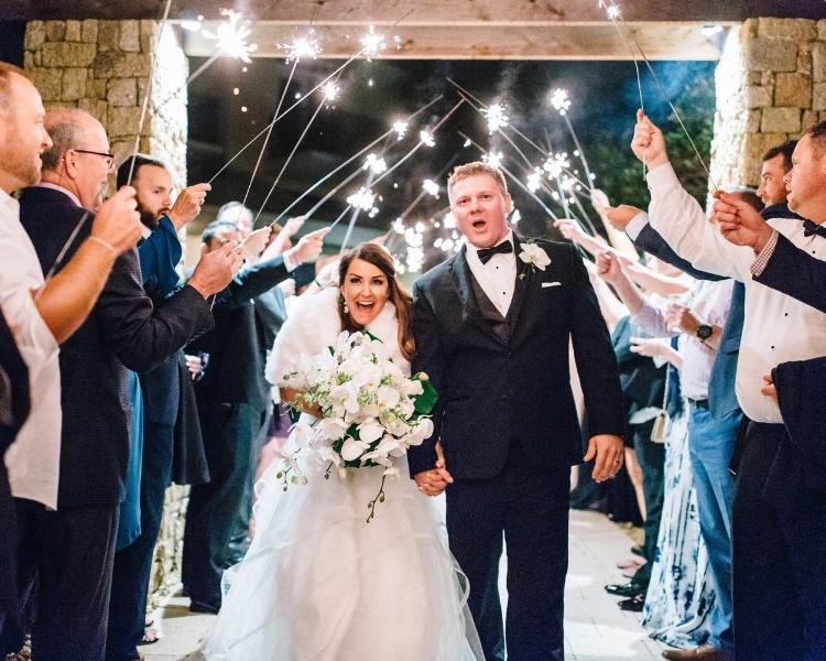 lisa stoner event planning - central florida luxury wedding planner- hammock beach resort - hammock beach wedding- wedding exit with sparklers.jpg