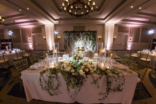 ritz carlton orlando ballroom - white and gold wedding decor- wedding decor with greenery - lisa stoner weddings- luxury orlando wedding reception.jpg