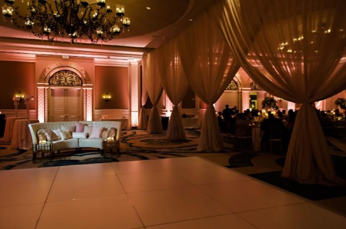 lisa stoner events - ritz carlton orlando wedding- central florida luxury wedding planner- white dance floor- draping for wedding- wedding lounge furniture.jpg