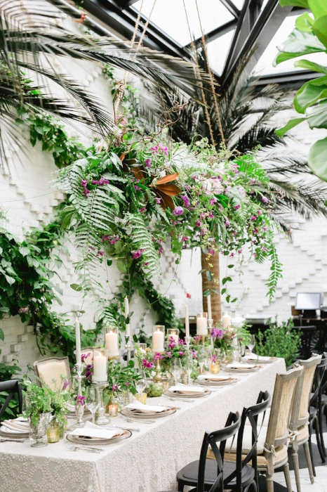 lisa stoner events- luxury wedding design - hanging floral chandelier - botanica- unique wedding centerpieces- editorial styling- plant wall.jpg