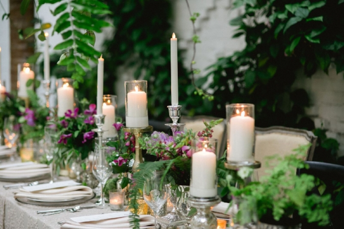 lisa stoner-oxford exchange- botanica- long reception tables- unique wedding centerpieces - gold and silver wedding centerpieces- head table.jpg