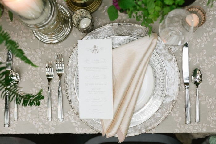 lisa stoner events- lace linen- glass charger plates - letterpress menu cards - oxford exchange- luxury wedding planner - editorial styling.jpg