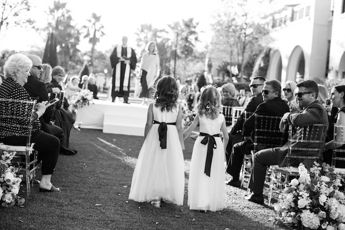 Lisa Stoner Events - Winter Park Wedding - Central Florida Luxury Wedding - Alfond Inn - Abby Liga Photography - intimate winter park wedding - flower girls - B&W wedding photography.jpg