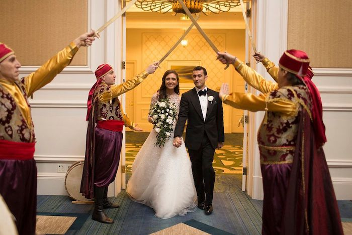 Lisa Stoner Events- Lisa Stoner – Ritz Carlton Orlando- Orlando luxury wedding- multicultural wedding – Best wedding planner in Orlando- entrance under swords.jpg