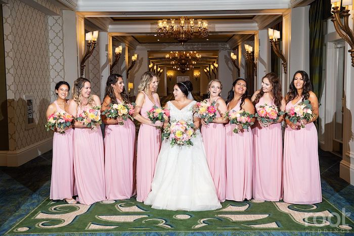 Lisa Stoner Events- Orlando Luxury Wedding Planner- Ritz Carlton Orlando – Ritz Carlton Wedding - wedding party - pink bridesmaid dresses.jpg