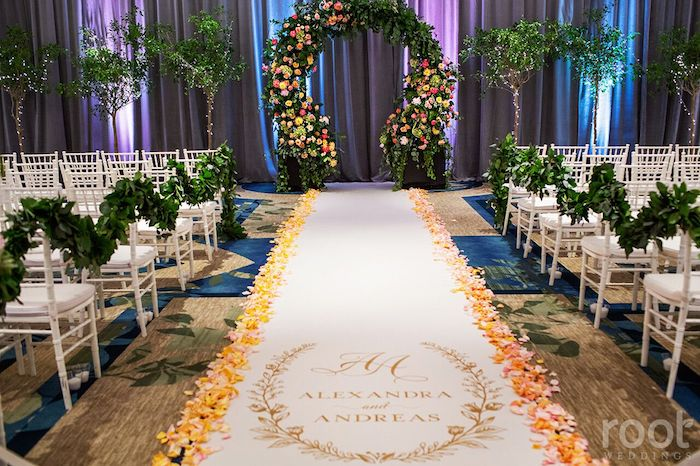 Lisa Stoner Events- Orlando Luxury Wedding Planner- Ritz Carlton Orlando – Ritz Carlton Wedding - aisle decor- custom aisle runner.jpg