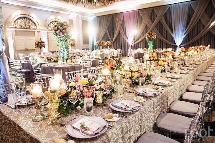 Lisa Stoner Events- Orlando Luxury Wedding Planner- Ritz Carlton Orlando – Ritz Carlton Wedding - colorful wedding recpetion - feast table.jpg
