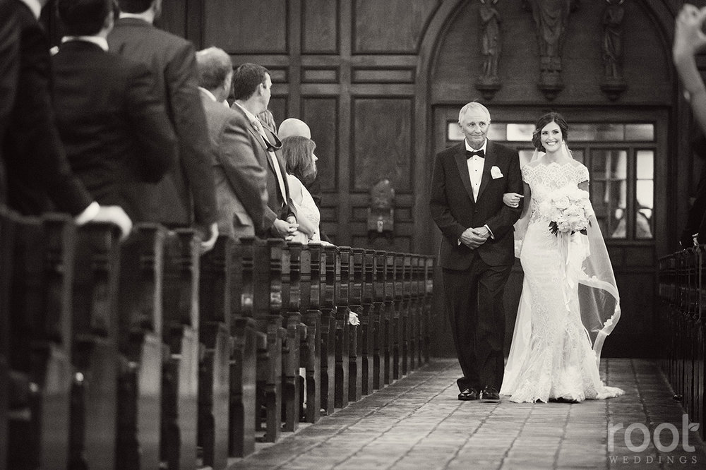 Lisa Stoner + Knowles Chapel Wedding + Bride Processional + .jpg