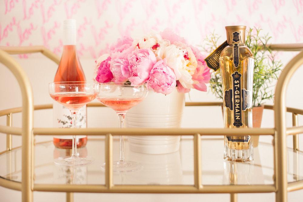 Valentine's Day Bar Cart + Lisa Stoner + Abby Liga