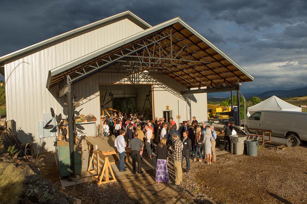James Surls artist studio in Carbondale, Colorado open for art collectors summer exhibition.
