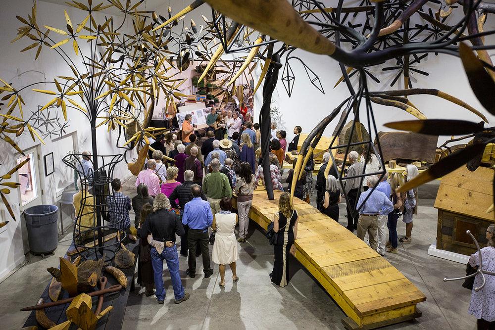James Surls artist studio in Carbondale, Colorado open for art collectors summer exhibitions