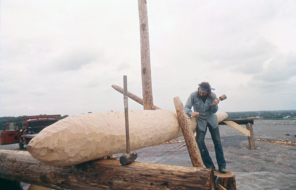 James Surls Chopping log.jpg
