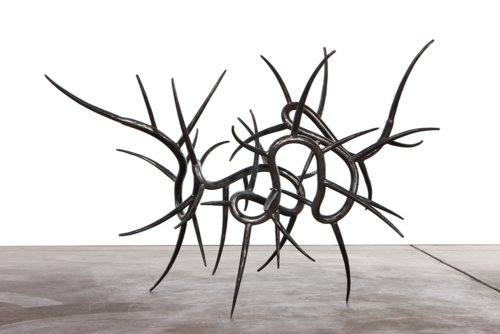 "Rough God 3, 2010, Steel, 46"" x 69"" x 44"""