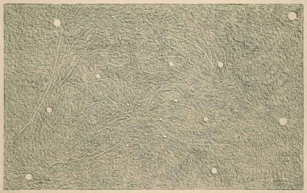 So Simply Vast, 1991, Hand Rubbing, 36 ½ x 58 inches