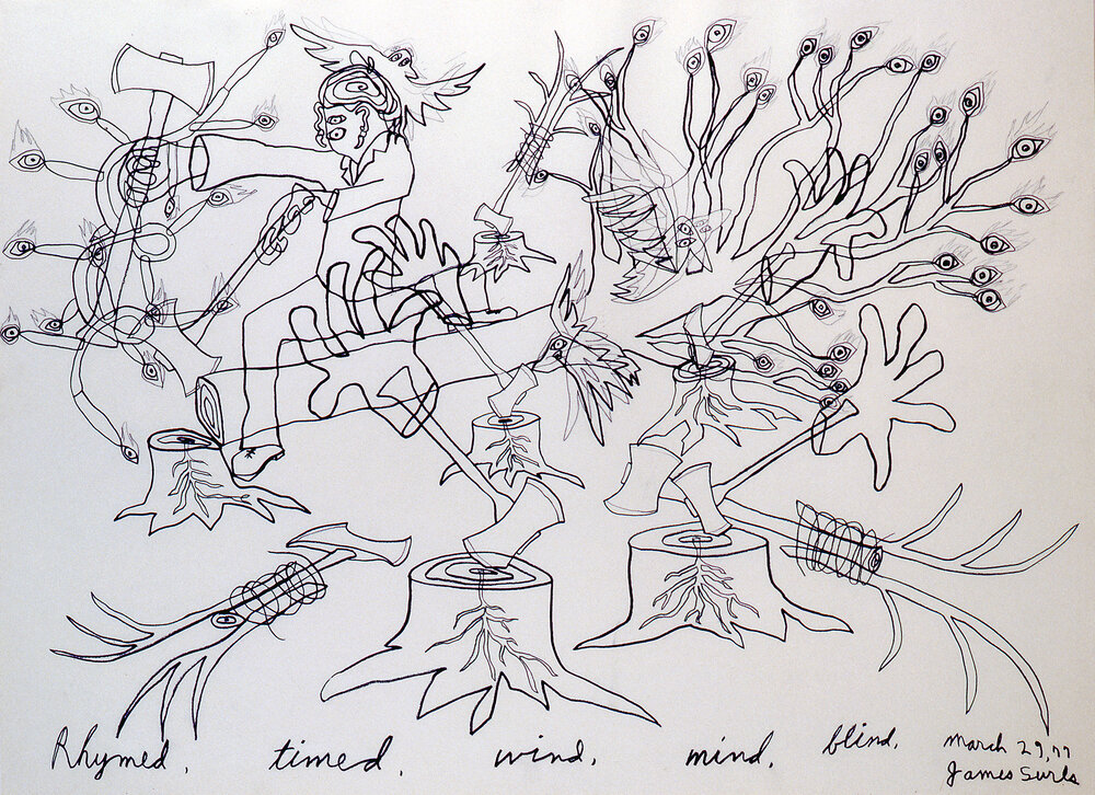 Rhymed, timed, wind,mind,blind, 1977