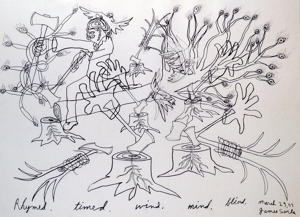 Rhymed, timed, wind,mind,blind, 1977