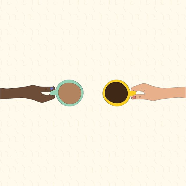 Hey pals! I got to create some quirky little illustrations for @yellowco.co to go with one of their blogs (posted today!). It's all about why you should ask your friend crush to coffee. And we all know there are few things I love more than coffee ☕️☕️☕️