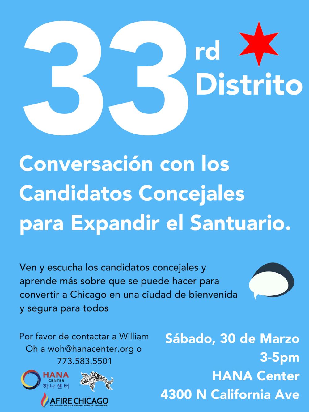 33rd Ward Community Forum Flyer_Spanish.png